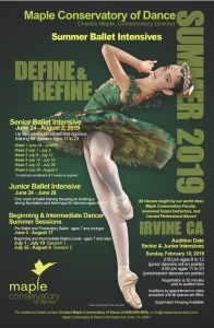 Summer Programs | Maple Conservatory of Dance